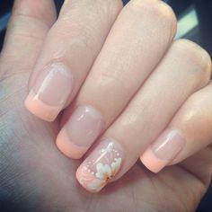 Nail Art with Rose Tulip Jasmine Flower Design