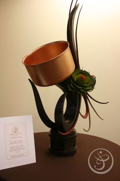 A chocolate showpiece (complete with edible copper pot!) by Chef Joshua Johnson, 2011 National Pastry Champion, of The French Pastry School from La Grande Fête: A French Salute to Julia and Joan | The French Pastry School