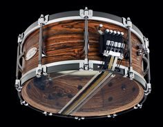 Black Swamp limited edition anniversary snare drum. Bocote wood with multi snare and internal snare system. Drool drool!! #drumset #drum set #snare drum