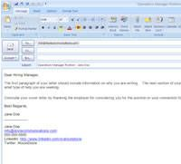 Job search email etiquette - good to know!