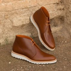 Made Chukka Boot in Cognac Polished Calf Leather Handcrafted Custom Made Shoes From Robert August. Create your own custom designed shoes.Handcrafted Custom Made Shoes From Robert August. Create your own custom designed shoes. Custom Made Shoes, Custom Design Shoes, Calf Leather, Leather Shoes, Men's Shoes, Dress Shoes, Best Shoes For Men, Mens Boots Fashion, Casual Shoes