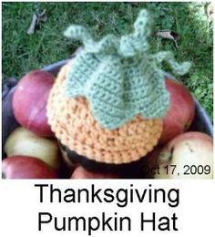 CROCHET: Thanksgiving Pumpkin Hat