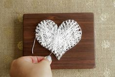 Tutorial on how to make this decorative string art!: