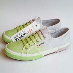 ClearoutSale Superga || Ombre Green Sneaker Dip dye green to purple tennis shoes. This sneaker is a EU size 39.5 which Superga (and most brands) convert to a Women's 8.5, which is what I have the item listed as, to most accurately reflect the sizing. Brand new in box. There is some glue on the inside of one of the footbeds which most likely occurred during manufacturing and will probably come off with a quick cleaning. There also seems to be a small imperfection on the toe area--see second…