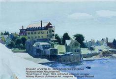 Edward Hopper's East Gloucester painting of the Rockaway Hotel