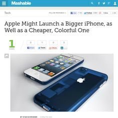 http://mashable.com/2013/06/13/apple-might-launch-a-bigger-iphone-as-well-as-a-cheaper-colorful-one/ ...   #Indiegogo #fundraising http://igg.me/at/tn5/