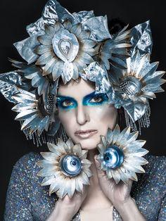 METAL,Headdress.Futuristic,Flower,Edgy,Silver,Metallic,Headpiece,Royal,Fringe,Crown,headpiece,High fashion,Editorial,hat by bwilkerson74 on Etsy https://www.etsy.com/listing/231607512/metalheaddressfuturisticfloweredgysilver