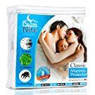 Full Size Mattress Pad Protector - Waterproof & Hypoallergenic Cover, Vinyl Free Topper - Machine Washable - By CalmniteTM