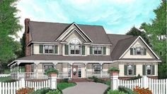 House Plan 96837 | Country   Farmhouse   Plan with 2579 Sq. Ft., 4 Bedrooms, 3 Bathrooms, 2 Car Garage