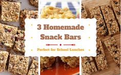 3 Healthier Snack Bar Recipes for School Lunches #weePLAN