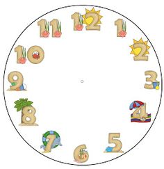 There is no better way to teach children how to say the time than to make a clock with them. Here is a template that you can print out on . Make A Clock, What Time Is, Teaching Kids, Templates, Children, Young Children, Stencils, Boys, Kids