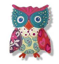 More colours to your sofa with paisley owl cushion