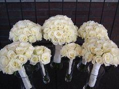 Ivory Rose Wedding Bouquets by meeroDesigns, via Flickr