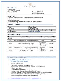 Mechanical Engineering Resume Format (Page 2) | Career | Pinterest ...