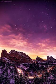~~Garden of the Gods at Night, Colorado Springs, Colorado by Lars Leber~~