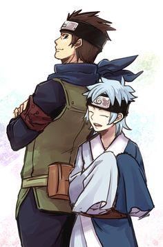 Konohamaru and Mitsuki