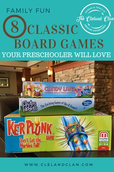 Classic Board Games Your Preschooler Will Love - The Cleland Clan