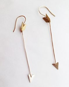 Rackk & Ruin 14k Gold Arrow Earrings