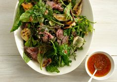 Grilled Steak Salad with Tomato Vinaigrette - simply fresh dinners