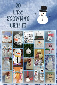 easy snowman crafts                                                                                                                                                      More