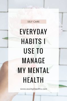 Self care habits and routines I use on a daily basis to manage my mental health and keep depression under control Recovering From Depression, Living With Depression, Health Anxiety, Stress And Anxiety, Headspace App, Natural Antidepressant, Self Esteem Issues, Depression Recovery, Mental Issues