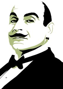 hercules poirot. Mine & my youngest daughter's favorite detective.