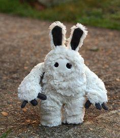 Moog - fluffy white bunny sasquatch monster plushie