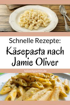 Quick recipes: cheese paste according to Jamie Oliver - I like quick pasta dishes. This cheese paste is clearly one of them, because it takes no longer tha - Quick Recipes, Quick Meals, Pasta Recipes, Salad Recipes, Dinner Recipes, Easy Dinners, Jamie Oliver, Morning Food, Eating Habits