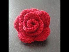 Tuto Rose facile au crochet - YouTube
