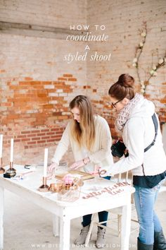how to coordinate a styled shoot via b is for bonnie design | lauren carnes photography for the illume retreat