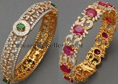 Top 7 Jewellery Designs by ANS Jewelry - Jewellery Designs Gold Bangles Design, Gold Jewellery Design, Handmade Jewellery, Gold Jewelry Simple, Stylish Jewelry, Jewelry Accessories, Fine Jewelry, Diamond Bangle, Diamond Jewellery