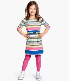 H&M Multi-color Striped Jersey Dress