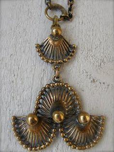 Bronze Pendant, Brutalist, Scandinavian Design, Finland, Danish, Jewels, Drop Earrings, Modern, Vintage