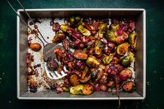 Roasted Brussel Sprouts and Grapes With Bacon • Olive & Mango  veggies Cranberry Orange Cheesecake | Olive & Mango