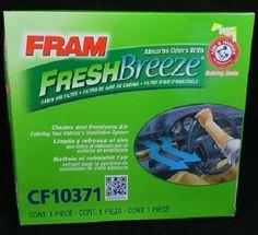 FRAM Fresh Breeze Cabin Air Filter With Arm & Hammer Baking Soda CF10371 NEW…
