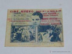 FOLLETO DE MANO - RAMON NAVARRO EN ESTUDIANTINA , FEBRERO 1932 , CINE NUEVO, SEÑALES DE USO