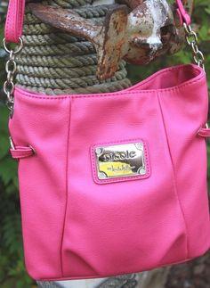 NICOLE Nicole Miller Pink Vegan Leather Cross Body Handbag #NicoleNicoleMiller #CrossBody
