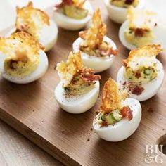 With crunchy bacon and spicy jalapenos, these will be the most flavorful deviled eggs on your appetizer spread.