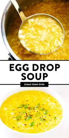 The BEST Egg Drop Soup recipe! It's easy to make in just 15 minutes, and always … The BEST Egg Egg Recipes, Asian Recipes, Cooking Recipes, Chinese Soup Recipes, Egg Dinner Recipes, Chicken Recipes, Chinese Desserts, Indonesian Recipes, Dairy Free Recipes