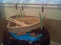 Pinky Promise Cakes: Fishing boat cake