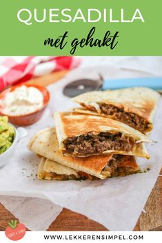 Quesadilla with minced meat - Ready in 30 minutes! - Tasty and Simple - Quesadilla with minced meat – Ready in 30 minutes! Couscous Recipes, Go For It, Cooking Recipes, Healthy Recipes, Diet And Nutrition, Diy Food, Family Meals, Quesadillas, Dinner Recipes
