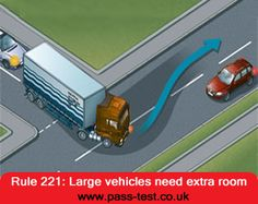 Large vehicle always need extra space to move.