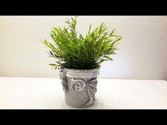 ЦВЕТОЧНЫЙ ГОРШОК ИЗ МАЙОНЕЗНОЙ БАНКИ ....Flower pot from mayonnaise jar - YouTube
