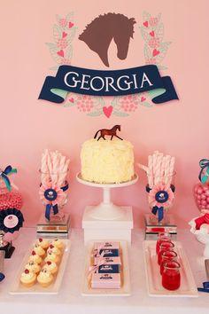 Preppy Pony Party 6th Birthday by Sweet Scarlet