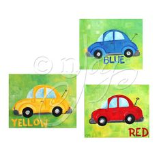 Childrens Wall Art for Boys / Transportation Art / by nJoyArt, $45.00