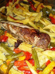 Filetto di maiale con peperoni e patate Realcooking