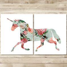 unicorn printable digital print download