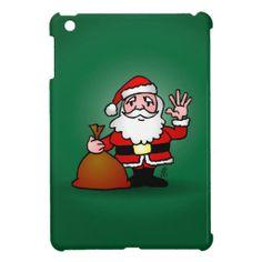 Santa Claus iPad Mini Cases #Zazzle #Cardvibes #Tekenaartje