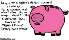 Comic by Natalie Dee: change pig