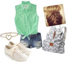 """Little Green Shirt"" by juliannahensel on Polyvore"